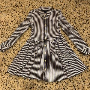 Polo Button Up Girls Dress size 6